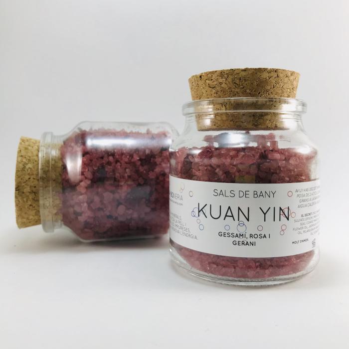 sales de baño kuan yin flores